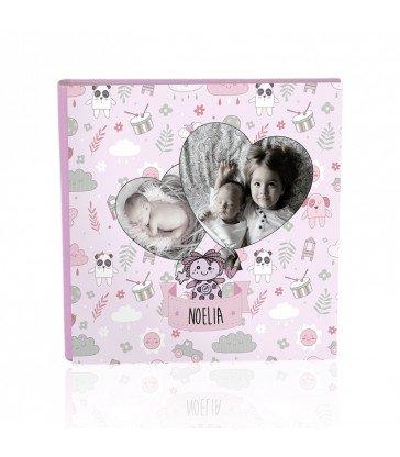 Colección Tapa diseño Baby Rosa Corazones