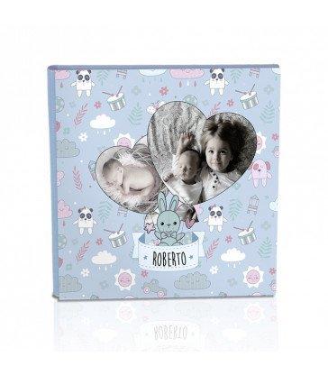Colección Tapa diseño Baby azul Corazones