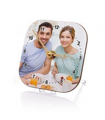 Reloj de mesa cuadrado chromaluxe®