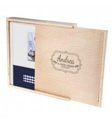 Caja Woody - Complementos comunión