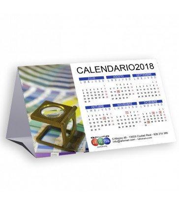 Calendario troquelado